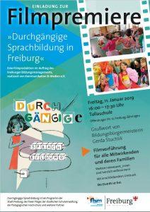 Plakat Premiere Durchgängige Sprachbildung